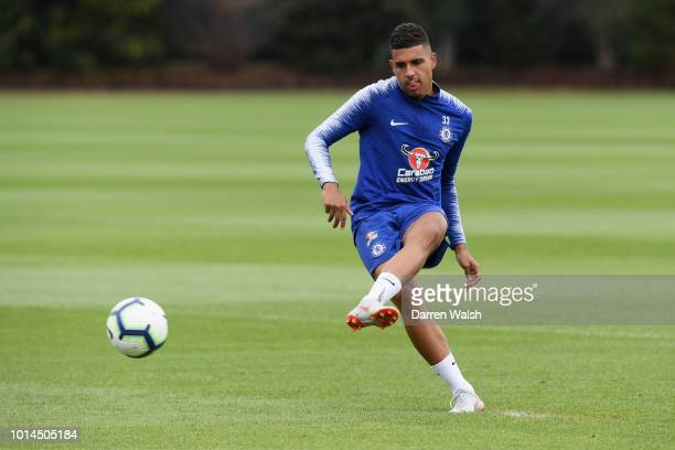Emerson of Chelsea during a training session at Chelsea Training Ground on August 10 2018 in Cobham England