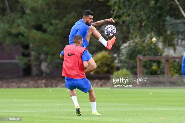 Emerson of Chelsea during a training session at Chelsea Training Ground on August 6 2020 in Cobham England