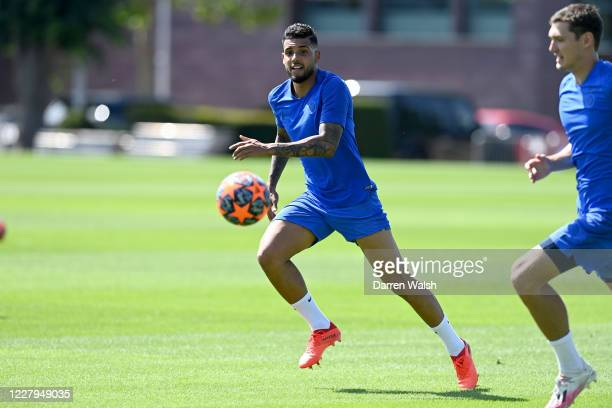 Emerson of Chelsea during a training session at Chelsea Training Ground on August 7 2020 in Cobham England