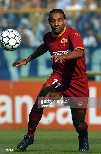 Emerson of Roma in action during the Serie A match between Brescia and Roma played at the Mario Rigamonti Stadium Brescia Italy on September 29 2002
