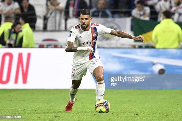 Emerson PALMIERI DOS SANTOS during the Ligue 1 Uber Eats match between Lyon and Troyes at Groupama Stadium on September 22, 2021 in Lyon, France.
