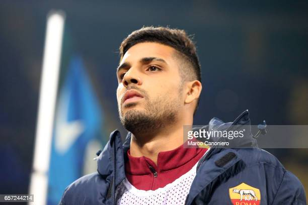 Emerson Palmieri dos Santos of AS Roma the Serie A match between FC Internazionale and AS Roma at Stadio Giuseppe Meazza AS Roma wins 31 over FC...