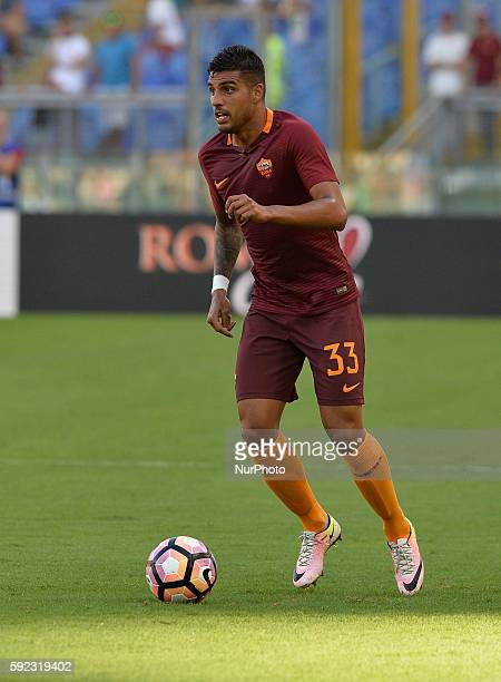 Emerson Palmieri during the Italian Serie A football match between AS Roma and Udinese Calcio at the Olympic Stadium in Rome on August 20 2016