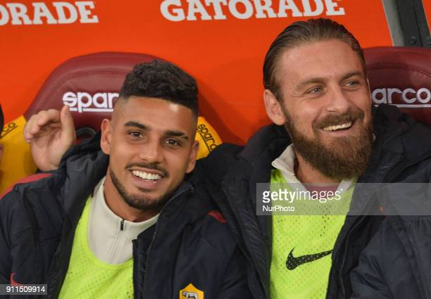 Emerson Palmieri during the Italian Serie A football match between AS Roma and Sampdoria at the Olympic Stadium in Rome on janaury 28 2018