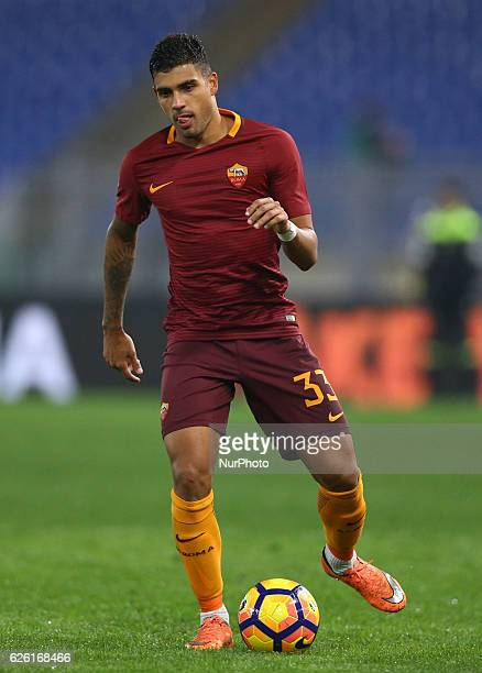 Emerson Palmieri of AS Roma during the Serie A match between AS Roma and Pescara Calcio at Stadio Olimpico on November 27 2016 in Rome Italy