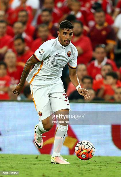 Emerson Palmieri of AS Roma in action during the friendly match between Al Ahly and AS Roma on May 20 2016 in Al Ain United Arab Emirates