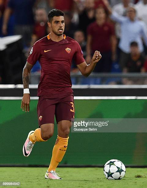Emerson Palmieri of AS Roma in action during the UEFA Champions League qualifying playoffs match between FC Porto and AS Roma on August 23 2016 in...