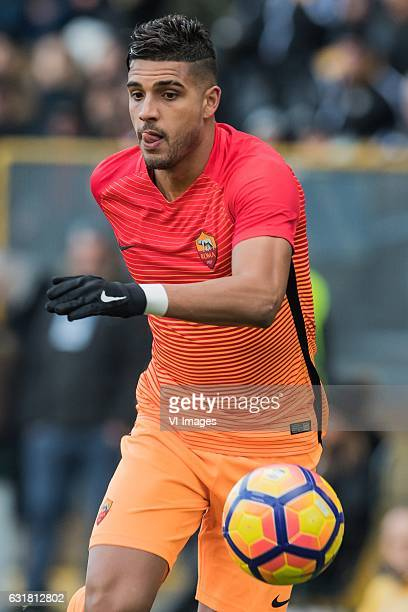 Emerson Palmieri of AS Romaduring the Italian Serie A match between Udinese and AS Roma at Dacia Arena on January 15 2017 in Udine Italy