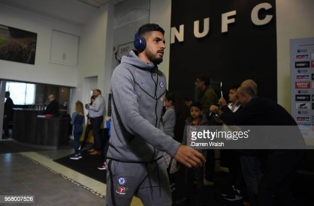 Emerson Palmieri of Chelsea arrives at the stadium prior to the Premier League match between Newcastle United and Chelsea at St James Park on May 13...