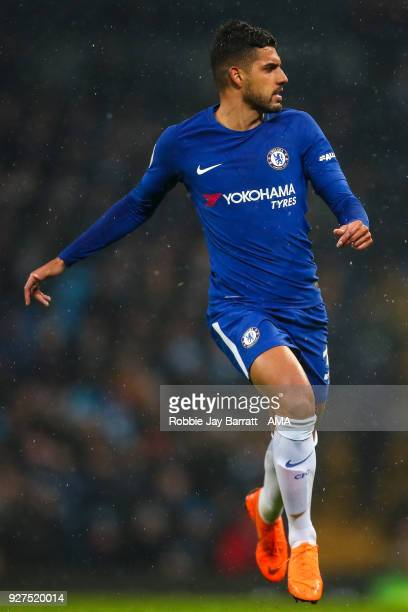 Emerson Palmieri of Chelsea during the Premier League match between Manchester City and Chelsea at Etihad Stadium on March 4 2018 in Manchester...