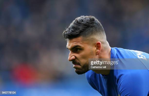 Emerson Palmieri of Chelsea during the Premier League match between Chelsea and Tottenham Hotspur at Stamford Bridge on April 1 2018 in London England