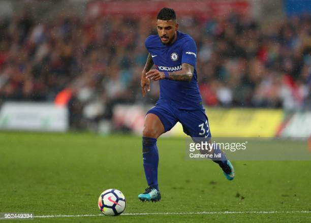 Emerson Palmieri of Chelsea during the Premier League match between Swansea City and Chelsea at Liberty Stadium on April 28 2018 in Swansea Wales