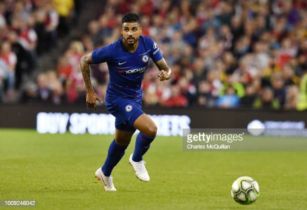 Emerson Palmieri of Chelsea during the Preseason friendly International Champions Cup game between Arsenal and Chelsea at Aviva stadium on August 1...
