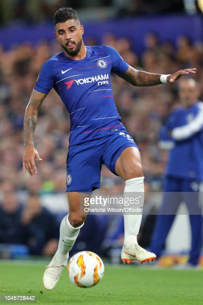 Emerson Palmieri of Chelsea during the UEFA Europa League Group L match between Chelsea and Vidi FC at Stamford Bridge on October 4 2018 in London...