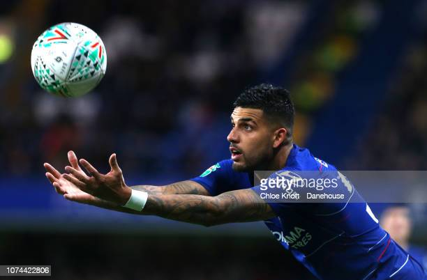 Emerson Palmieri of Chelsea FC during the Carabao Cup Quarter Final match between Chelsea FC and AFC Bournemouth at Stamford Bridge on December 19...