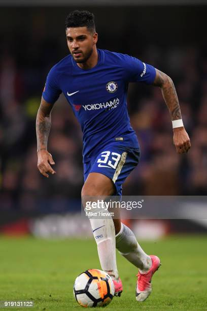 Emerson Palmieri of Chelsea in action during The Emirates FA Cup Fifth Round match between Chelsea and Hull City at Stamford Bridge on February 16...
