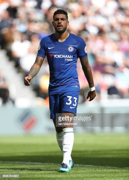 Emerson Palmieri of Chelsea is seen during the Premier League match between Newcastle United and Chelsea at St James Park on May 13 2018 in Newcastle...