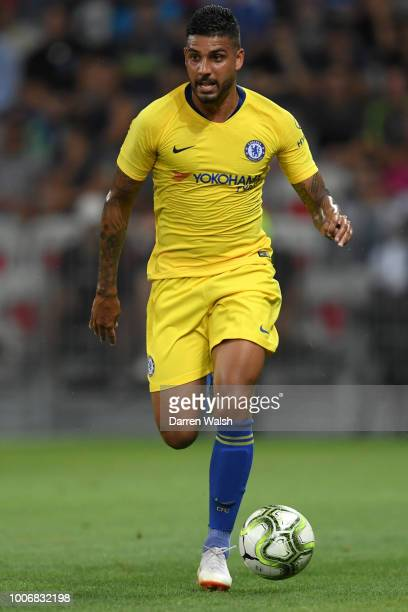 Emerson Palmieri of Chelsea runs with the ball during the International Champions Cup 2018 match between Chelsea and FC Internazionale at Allianz...
