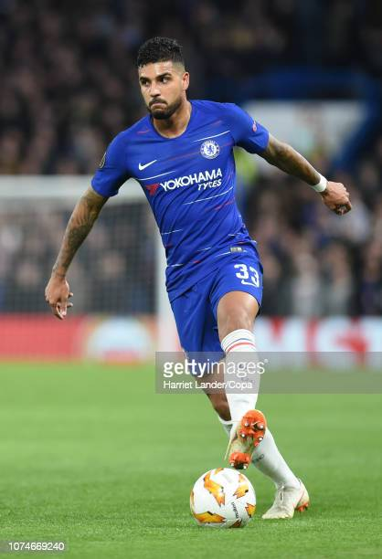 Emerson Palmieri of Chelsea runs with the ball during the UEFA Europa League Group L match between Chelsea and PAOK at Stamford Bridge on November 29...