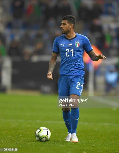 Emerson Palmieri of Italy in action during the friendly match between Italy and Usa played at Luminus Arena on November 20 2018 in Genk Belgium