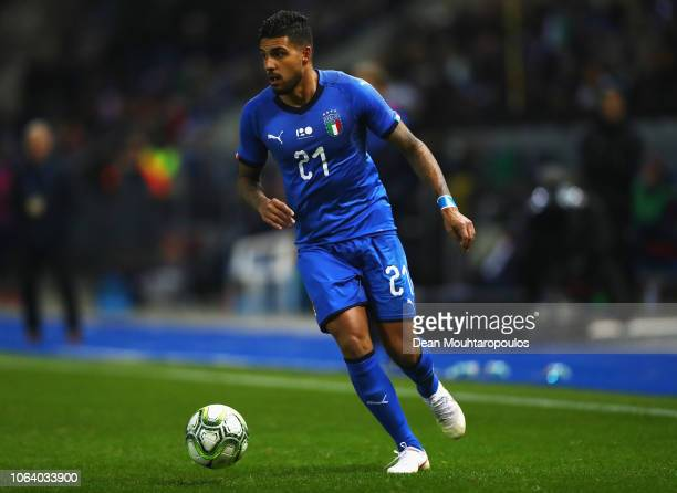 Emerson Palmieri of Italy in action during the International Friendly match between Italy and the United States of America at Cristal Arena on...