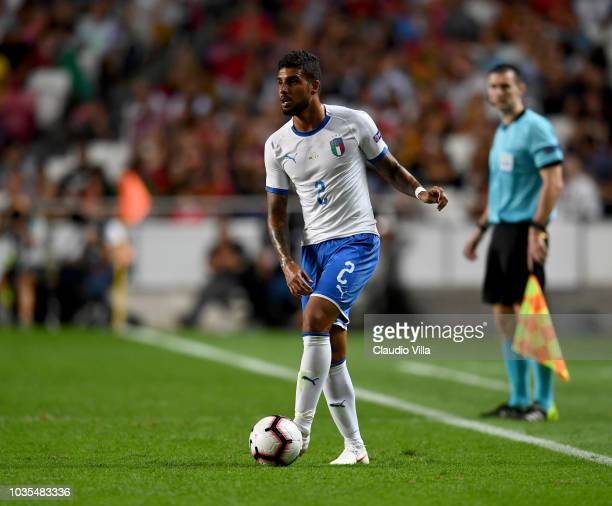 Emerson Palmieri of Italy in action during the UEFA Nations League A group three match between Portugal and Italy at on September 10 2018 in Lisbon...