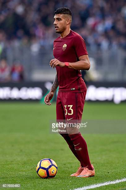 Emerson Palmieri of Roma during the Serie A match between Lazio v Roma on December 4 2016 in Rome Italy