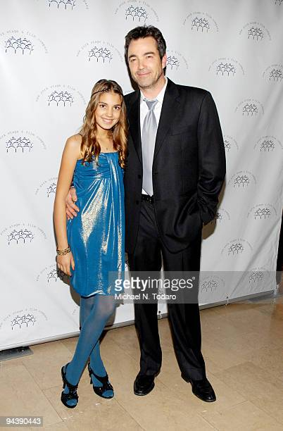 Emerson Rose Tenney and Jon Tenney attend the New York Stage and Film's annual gala at The Plaza Hotel on December 13 2009 in New York City