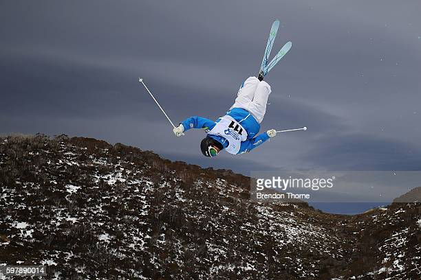 Emerson Smith of the USA competes during the Subaru Australian Mogul Championships on August 30 2016 in Perisher Australia