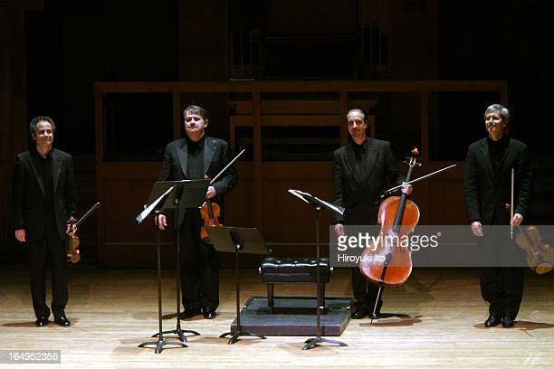 Emerson String Quartet performing the music of Dmitri Shostakovich at Alice Tully Hall on Thursday night April 27 2006They are from left Eugene...