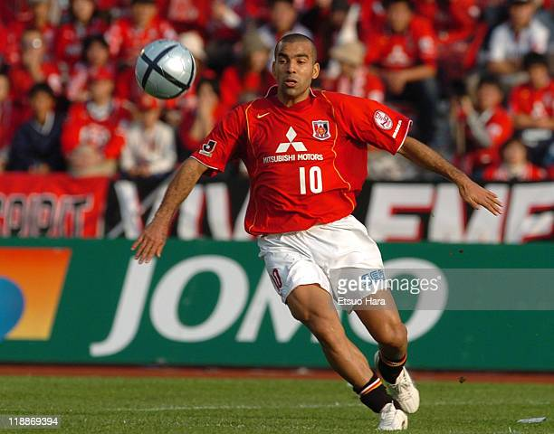 Emerson whose real name is Marcio Passos de Albuquerque of Urawa Red Diamonds in action during the JLeague Division 1 second stage match between...