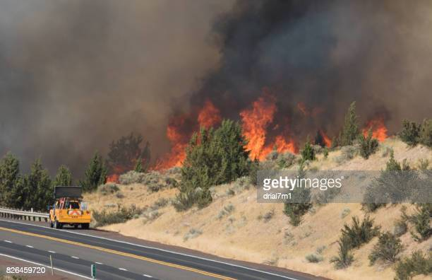 Emerson Wildfire Burning Near Highway 97