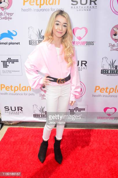 Emery Bingham attends 4th Annual World Dog Day at West Hollywood Park on May 18 2019 in West Hollywood California