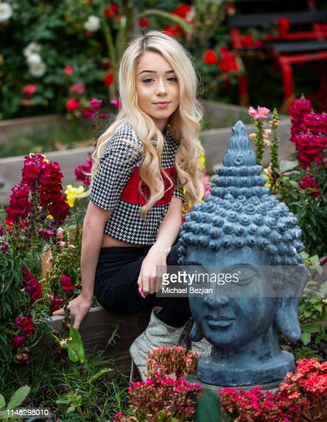 Emery Bingham poses for portrait at Giveback Day at TAP The Artists Projecton May 10 2019 in Los Angeles California