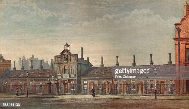 Emery Hill's Almshouses Rochester Row' Westminster London 1880 From Lost London described by E Beresford Chancellor Artist John Crowther