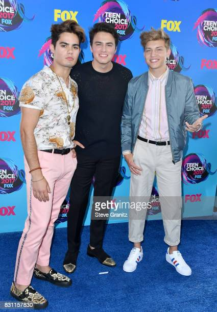 Emery Kelly Liam Attridge and Ricky Garcia of Forever in Your Mind attends the Teen Choice Awards 2017 at Galen Center on August 13 2017 in Los...