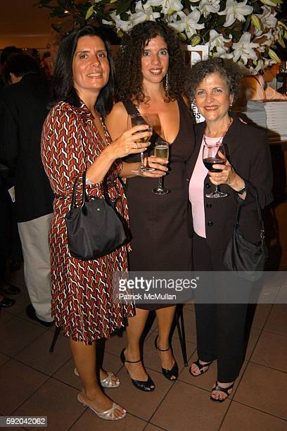 Emi Battaglia Tina Andreadis and Susan Richman attend Warner Books and ELLE launch of Beyond the Blonde at Nello on September 21 2005 in New York City
