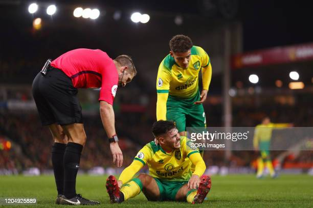 Emi Buendia of Norwich City during the Premier League match between Norwich City and Leicester City at Carrow Road Final Score Norwich City 10...