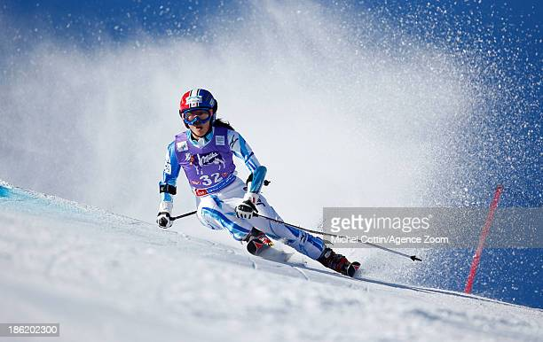 Emi Hasegawa of Japan competes during the Audi FIS Alpine Ski World Cup Women's Giant Slalom on October 26 2013 in Soelden Austria