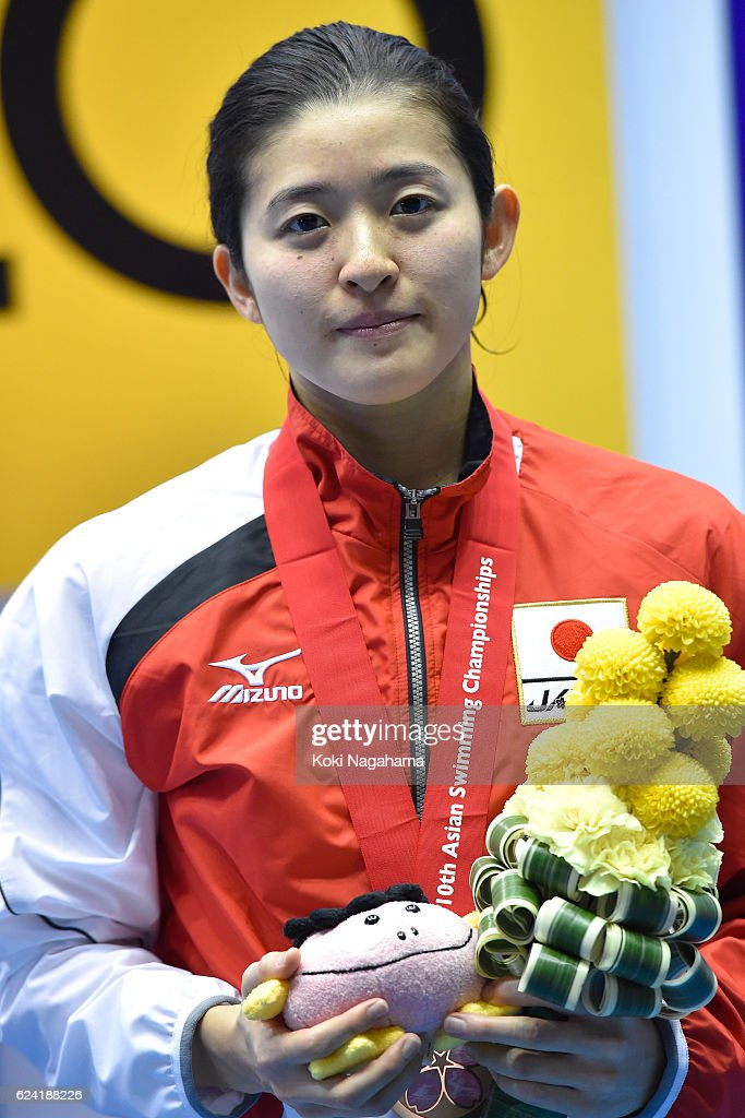 Emi Moronuki of Japan looks on after Women's 100m Backstroke final race during the 10th Asian Swimming Championships 2016 at the Tokyo Tatsumi International Swimming Center on November 18, 2016 in Tokyo, Japan.