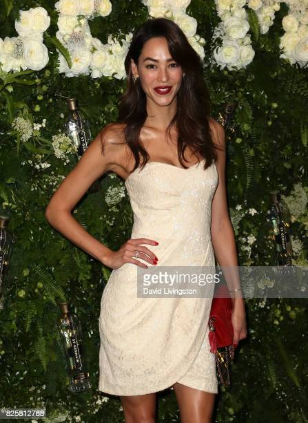 Emi Renata attends the Maison StGermain LA debut hosted by Lily Kwong at the Houdini Estate on August 2 2017 in Los Angeles California
