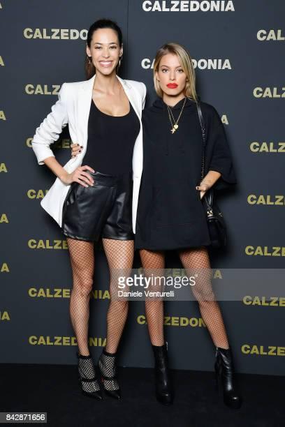 Emi Renata Sakamoto and Jessica Goicoechea attend Calzedonia Legs Show on September 5 2017 in Verona Italy