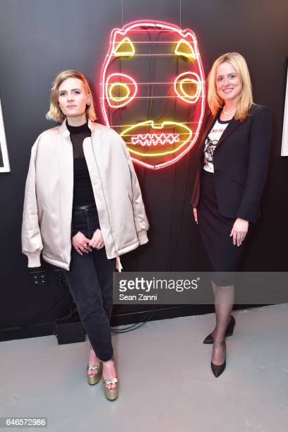 Emie Diamond and Anne Huntington attend Spring Break Art Fair 2017 Vernissage at 4 Times Square on February 28 2017 in New York City