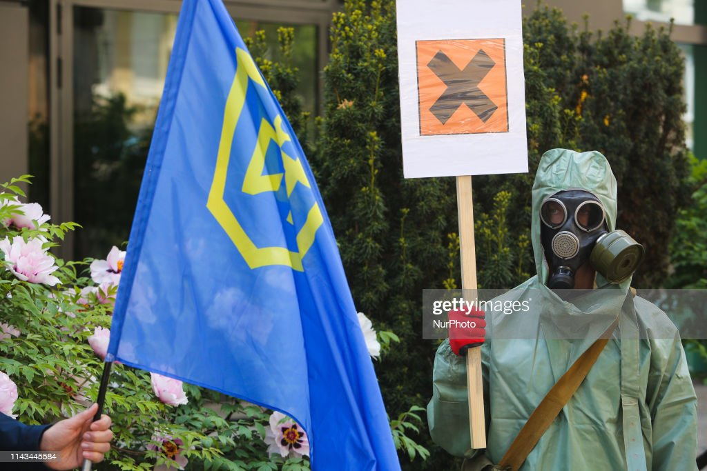 Activists Demand To Audit Russian Oil Companies In Kiev : News Photo