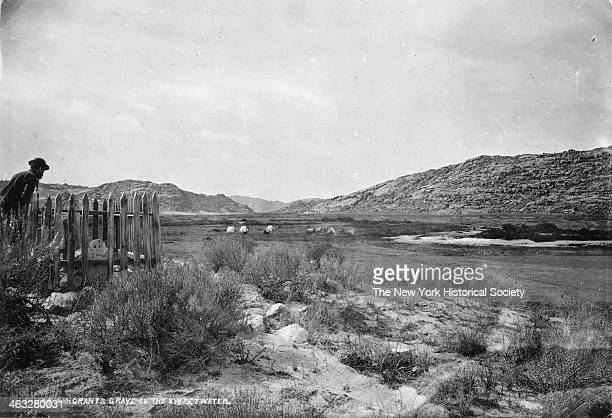Emigrants Grave at Three Crossings of the Sweetwater on the Oregon Trail between Independence Rock and South Pass Wyoming 1870