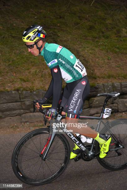 Emil Dima of Romania and Team Giotti Victoria Green Mountains Jersey / during the 43rd Tour of the Alps 2019 Stage 2 a 1787km stage from Reith im...