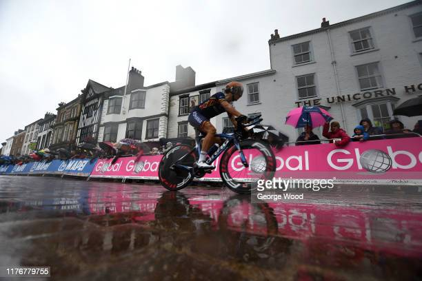 Emil Dima Roumania / during the 92nd UCI Road World Championships 2019 Men U23 Individual Time Trial a 32km Individual Time Trial race from Ripon to...