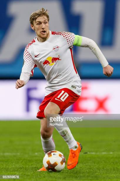 Emil Forsberg of RB Leipzig during the UEFA Europa League Round of 16 second leg match between FC Zenit St Petersburg and RB Leipzig at Saint...