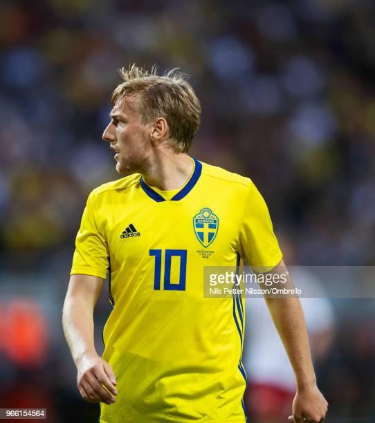 Emil Forsberg of Sweden during the International Friendly match between Sweden and Denmark at Friends Arena on June 2 2018 in Solna Sweden