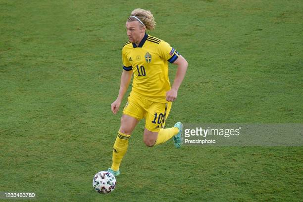 Emil Forsberg of Sweden during the match between Spain and Sweden of Euro 2020, group E, matchday 1, played at La Cartuja Stadium on June 14, 2021 in...